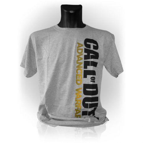 CALL OF DUTY Advanced Warfare Men's Vertical Logo T-Shirt, Extra Large, Grey Melange