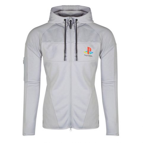 Playstation PS One Logo Technical Full Length Zipper Hoodie - Extra Large