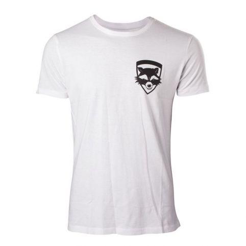 MARVEL COMICS Guardians of the Galaxy Vol. 2 Men's Rocket T-Shirt, Large, White