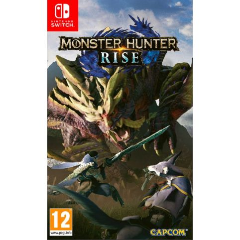 Monster Hunter Rise With FREE Steel Book, Palamute Dog And Palico Cat Key Rings (Switch)