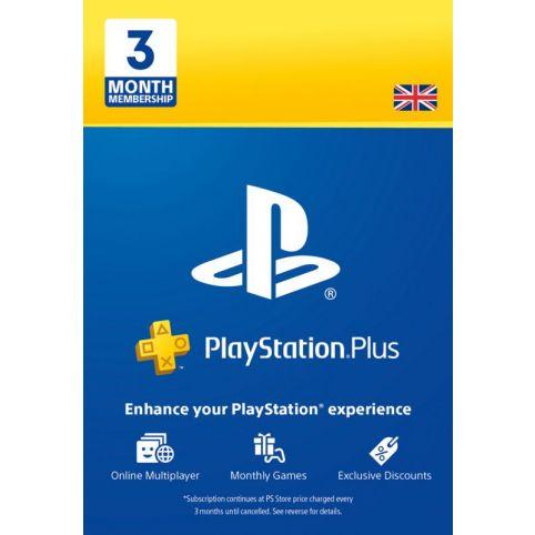PS Plus 3 Month Subscription - Digital Code - UK account