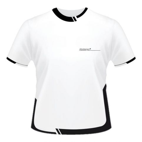 ASSASSIN'S CREED Men's Abstergo Industries Logo Sublimation T-Shirt, Small, White/Black