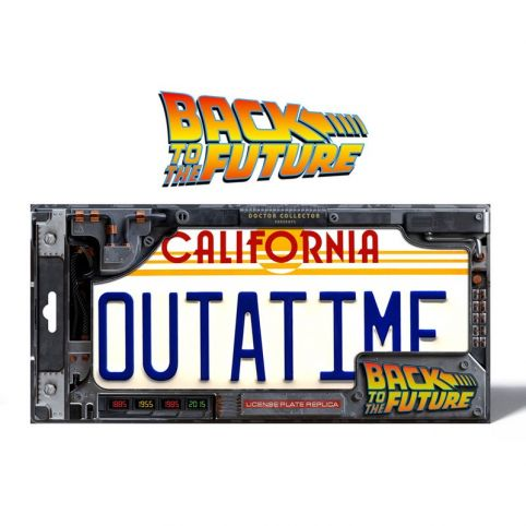 Back To The Future OUTATIME Licence Plate Replica
