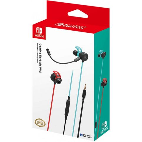 Hori Gaming Earbuds Pro With Mixer for Nintendo Switch