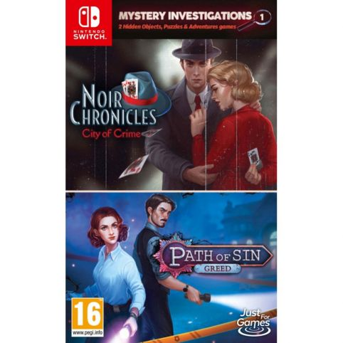 Mystery Investigations 1 Noir Chronicles: City of Crime + Path of Sin: Greed (Switch)