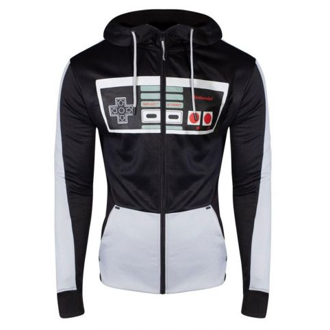 NES Controller Front Zipper Full Length Hoodie - Small