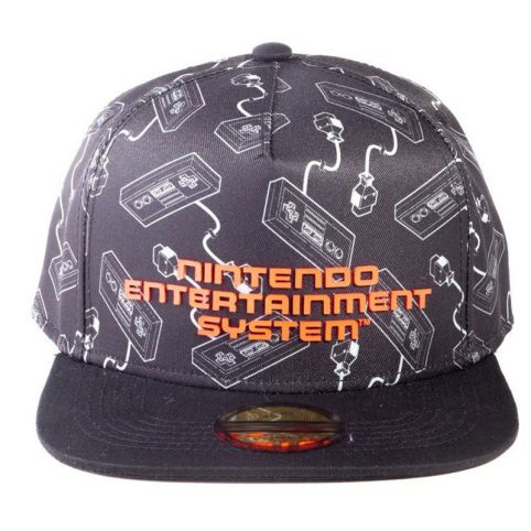 NES Controllers All-Over Print with Logo Snapback Baseball Cap