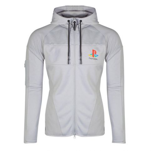 Playstation PS One Logo Technical Full Length Zipper Hoodie - Large