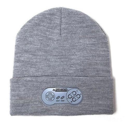 SNES Controller Print Roll-up Beanie