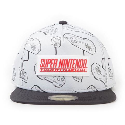 SNES Controllers All-Over Print with Rubber Patch Snapback Baseball Cap