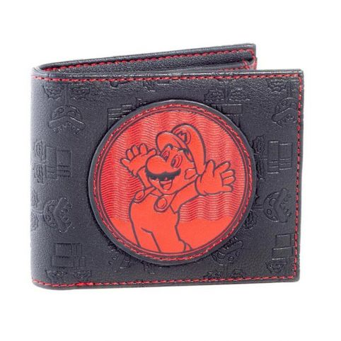 Super Mario Bros. Red Mario Patch Bi-fold Wallet