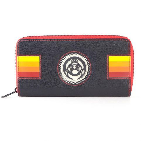 Super Mario Bros. Retro Mario Patch Zip-around Purse Wallet