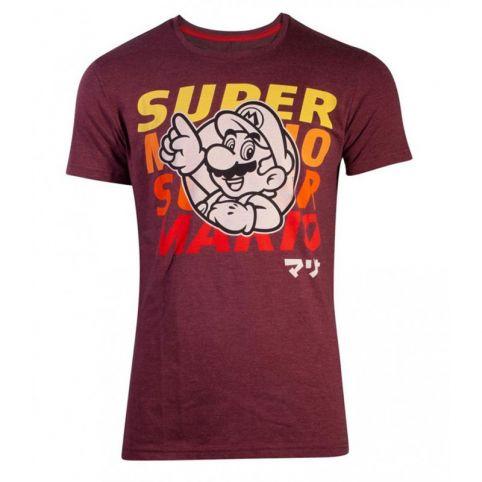 Super Mario Bros. Space Dye Mario T-Shirt - Small