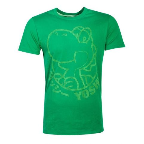 Super Mario Bros. Yoshi Rubber Silhouette Print T-Shirt - Large