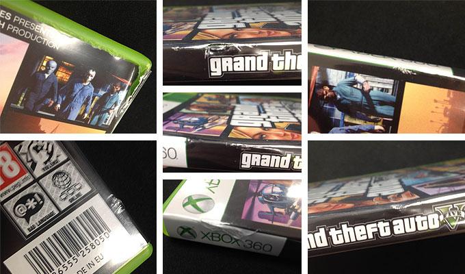 GTAV Xbox 360 Damaged