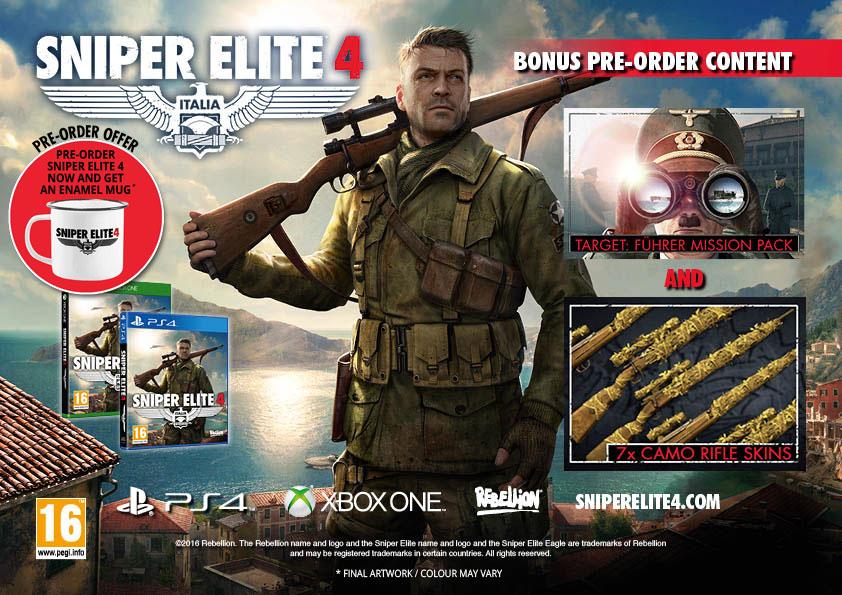 Sniper Elite 4 - Pre-Order Bonus