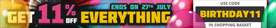 Get 11% off everything - use code BIRTHDAY11