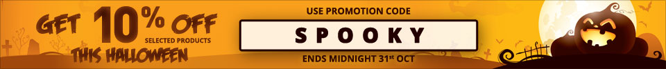 Get 10% off selected products this Halloween - use code SPOOKY