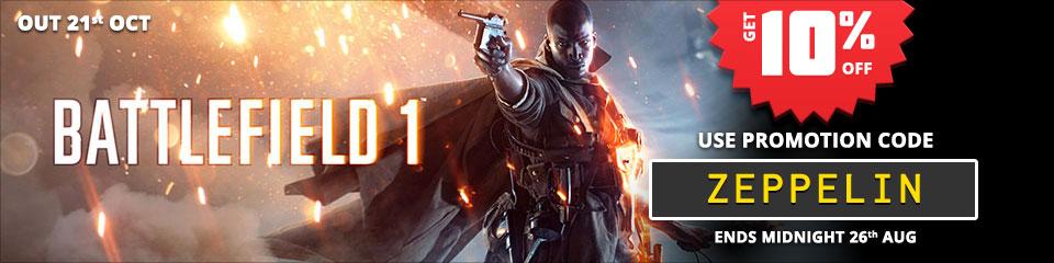 Battlefield 1 - get 10% off