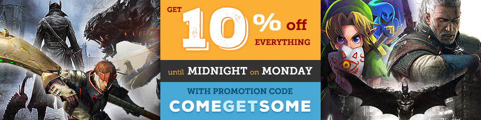 Get 10% off everything until Midnight on Monday with promotion code COMEGETSOME
