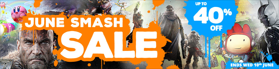 June Smash SALE - up to 40% off