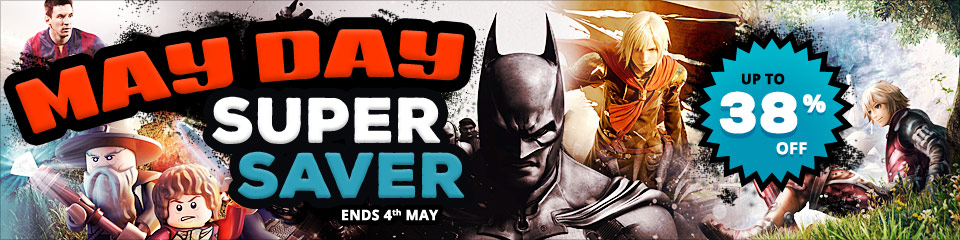 May Day Super Saver SALE - up to 38% off