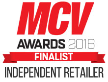 Finalist for The Best Independent Retailer at MCV 2016 Awards