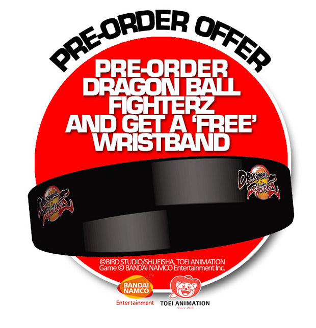 Pre-order Dragon Ball FighterZ and get a FREE Wristband