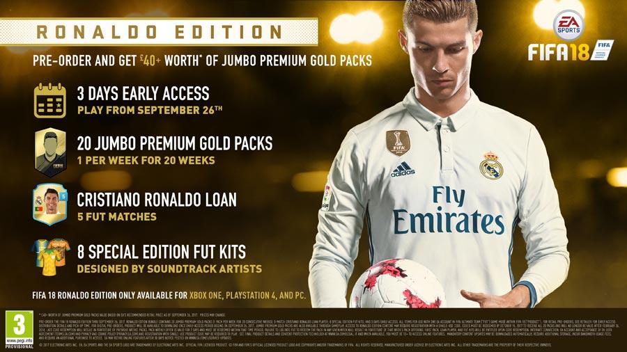 FIFA 18 - Ronaldo Edition Pre-order bonus