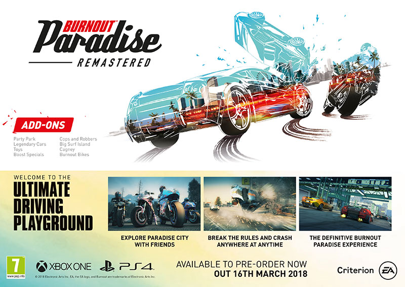 Burnout Paradise Remastered Infographic