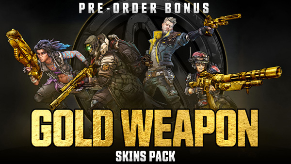 Borderlands 3 - Gold Weapon Skin Pack Pre-order Bonus