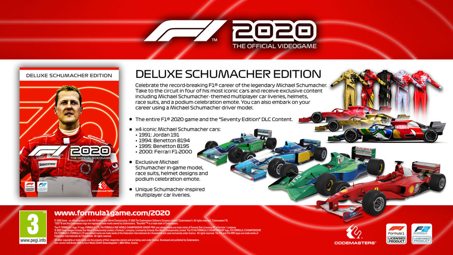 F1 2020 Deluxe Schumacher Edition (Xbox One) - Games ...