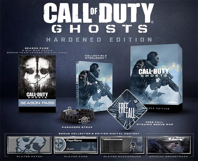 Call Of Duty: Ghosts - Hardened Edition Contents