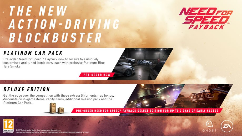 Need For Speed Payback - Pre-order