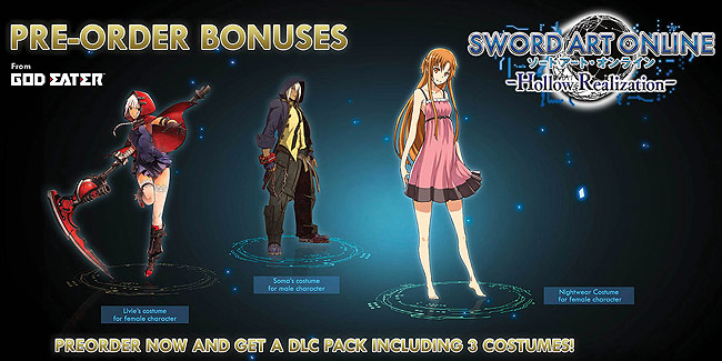 Preorder bonus content for Sword Art Online Hollow Realisation