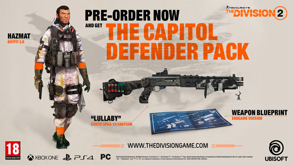Tom Clancy's The Division 2 - The Capitol Defender Pack